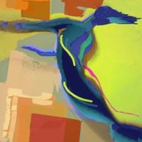 Digital painting • 50x75cm • afwerking dibond-acryl/perspex •andere formaten of op aluminium dibond in overleg • serie: In beweging