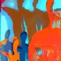 Digital painting • 50x75cm • afwerking dibond-acryl • serie: In beweging