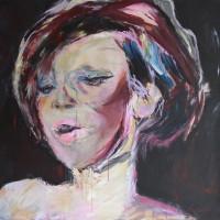 Grace van den Dobbelsteen • PORTRETTEN • Femme en rose 100x100