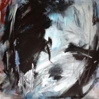 Grace van den Dobbelsteen • klein abstract portret • 30x30cm • New Day