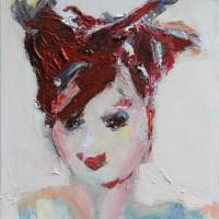 Grace van de dobbelsteen • portretkunst • 20x20cm