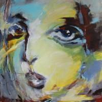 Grace van den Dobbelsteen • 100x120cm • portret •Serie Grands Yeux