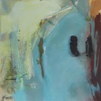 Serie: In dit huis • acryl op canvas • 40x40cm