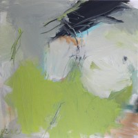 Klein abstract schilderij • In beweging • Acryl op canvas • 50x50cm