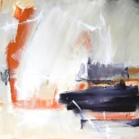 Serie: Abstracte landschappen - Vrijheid • 100x20cm