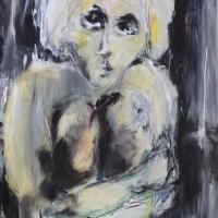 kunstwerk uit de serie Grands Yeux • acryl op linnen • 100x120cm
