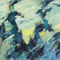 Serie: In beweging • Haasje over II • acryl op canvas • 80x100cm