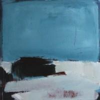 Serie: Abstracte landschappen • In dit huis • acryl op linnen • 100x100cm