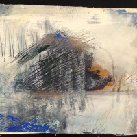 klein abstract werk los doek op canvas