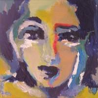 Grace van den Dobbelsteen • klein schilderij in epoxy gegoten (x)