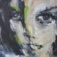 Serie: Grands Yeux • acryl op canvas • 40x50cm