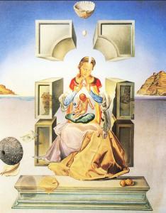 Kunstenaar Dali Madonna van Port Lligat 1e versie 1949