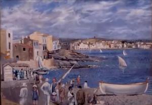 Salvador Dalí schildert dit werk op zijn 15e. Het is het leven in Cadaqués waar hij veel vakanties doorbracht