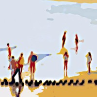 Grace van den Dobbelsteen Beeldende Kunst Tilburg • Digital Painging • A la côte • diverse formaten mogelijk
