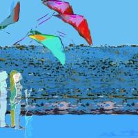 Grace van den Dobbelsteen • Digital Painting • diverse formaten, bijvoorbeeld 100x100 • aluminium dibond