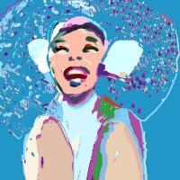 Grace van den Dobbelsteen Digital Painting Portret Zeeuws meisje • formaten: o.a. 20x20 50x50 100x100