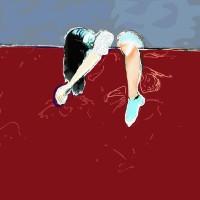 Grace van den Dobbelsteen • digitale kunst Tilburg • 100x100cm en andere formaten in overleg • Feestje gehad Sleutel vergeten