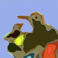 Digital work of art • diverse formaten • Serie: Ga je mee Naar zee • afgewerkt op aluminium-dibond